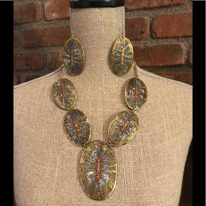 Jewelry - FESTIVAL NWT BOHO SET earrings/necklace Hippy